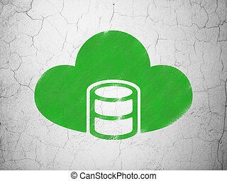 Programming concept: Database With Cloud on wall background