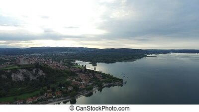 Beautiful Architecture in Arona With Aerial Photography in...