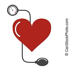 blood pressure cuff icon - flat design blood pressure cuff...