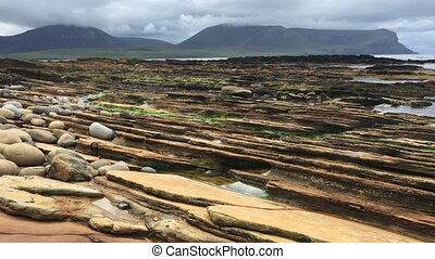 View of Warbeth Beach, Orkney, Scotland