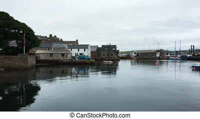 View of Stromness harbor in Orkney, Scotland - A View of...