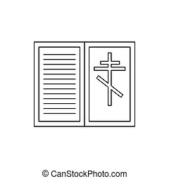 Eulogy, death symbol icon, outline style - Eulogy, death...