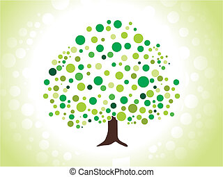 abstract dotted green tree