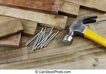 Hammer and nails