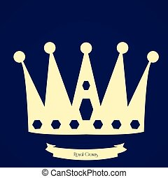 Royal crown - Isolated silhouette of a royal crown, Vector...