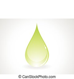 abstract green drop
