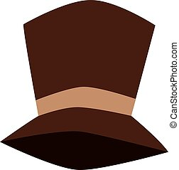 Tall hat vector illustration. - Cylinder black gentleman hat...