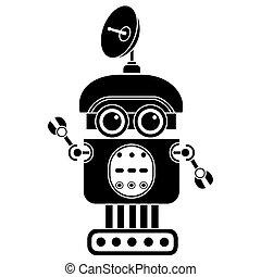 Vector robot silhouette