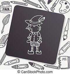 Pinocchio, scarabocchiare