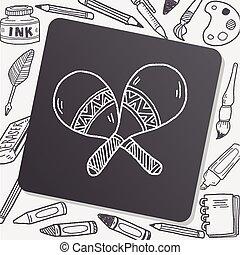 maracas doodle