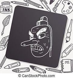Tengu doodle