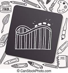 Roller coaster doodle