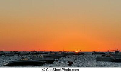 Golden Sunrise over Sea - Colorful sunrise over the sea....