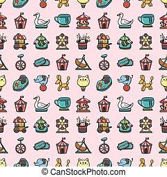 Amusement park icons set,eps10
