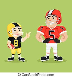 american football player chat with