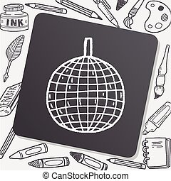 disco ball doodle