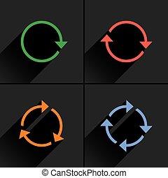 Color arrow loop, refresh, reload, rotation icon