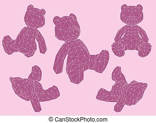 Bears in different positions