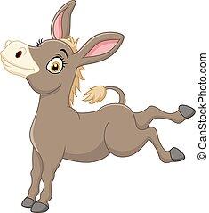 Cartoon funny donkey