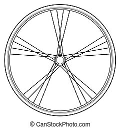 bike wheel - image of bike wheels isolated on white...