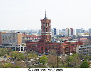 Rotes Rathaus, Berlin - Rotes Rathaus (The Red Town Hall),...