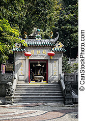 famous landmark ama chinese temple entrance in macao macau -...