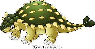 Ankylosaurus Dinosaur cartoon - Vector illustration of...