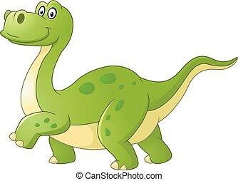 Cartoon dinosaur isolated on white
