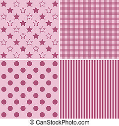Set of four cute backgrounds