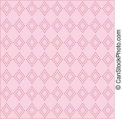 Abstract geometry vector background in pink tones