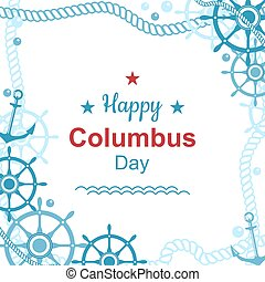 Happy Columbus day poster