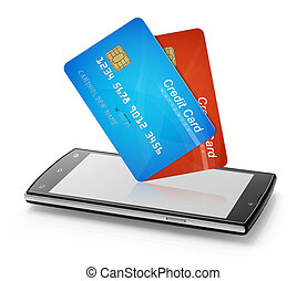 Credit cards and mobile phone