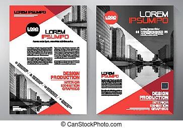 Business brochure flyer design a4 template. Vector...