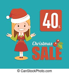 Christmas discount , sale holiday banner. - Christmas...