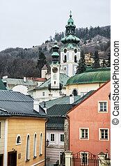 Old castle in Banska Stiavnica, Slovakia, cultural heritage,...