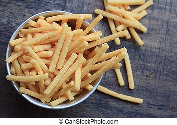 french fries with potatoes