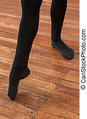 Low Section Of Male Ballet Trainer Performing On Floor - Low...