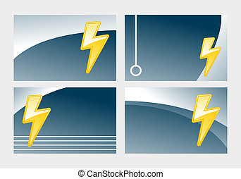 flash - business card templates with symbolic lightning