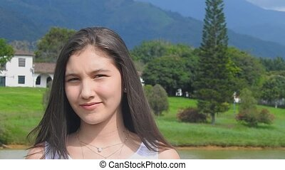 Teen Girl In Rural Area
