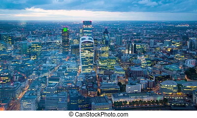 city of london night time lapse