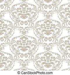 Vector baroque damask delicate ornament pattern. Elegant...