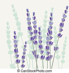 Vintage Spring Watercolor Background with Lavender Flowers....