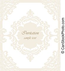 Vector Vintage Classic Wedding Invitation card Imperial...
