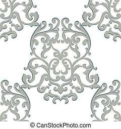 Vector Vintage Classic Damask Pattern element Imperial...