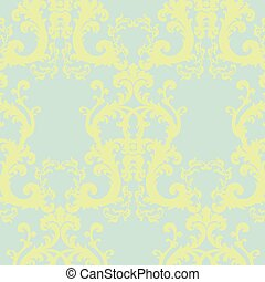 Vintage Vector Floral Baroque ornament pattern - Vector...