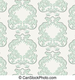Vector Vintage Floral Baroque Damask Pattern element...