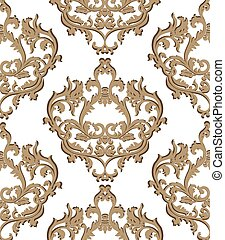Vector Vintage Classic Damask Pattern element Imperial style...