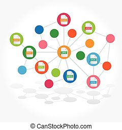File extensions connected illustration vector
