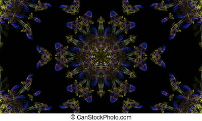 Colorful and bright floral fractal art design - Colorful...