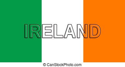 Flag of Ireland - Illustration of the flag of Ireland with...